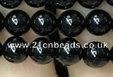 CAA2404 15.5 inches 8mm round black agate beads wholesale