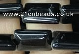 CAA2565 15.5 inches 8*12mm rectangle black agate beads wholesale