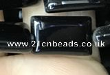 CAA2566 15.5 inches 10*14mm rectangle black agate beads wholesale