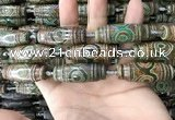 CAA2707 15.5 inches 14*38mm - 16*43mm rice tibetan agate dzi beads