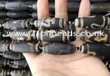 CAA2715 15.5 inches 14*38mm - 16*43mm rice tibetan agate dzi beads