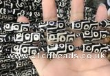 CAA2725 15.5 inches 11*29mm - 13*30mm rice tibetan agate dzi beads