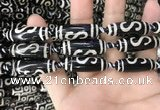 CAA2727 15.5 inches 10*28mm - 11*30mm rice tibetan agate dzi beads