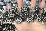 CAA2734 15.5 inches 14*21mm - 16*22mm drum tibetan agate dzi beads