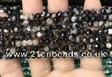 CAA2813 15 inches 4mm faceted round fire crackle agate beads wholesale