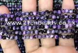 CAA2822 15 inches 4mm faceted round fire crackle agate beads wholesale