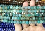 CAA2965 15 inches 8mm faceted round fire crackle agate beads wholesaleCAA29