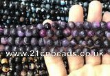 CAA3015 15 inches 8mm faceted round fire crackle agate beads wholesale
