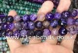 CAA3041 15 inches 10mm faceted round fire crackle agate beads wholesale