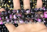 CAA3090 15 inches 10mm faceted round fire crackle agate beads wholesale