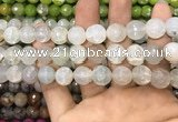 CAA3147 15 inches 12mm faceted round fire crackle agate beads wholesale