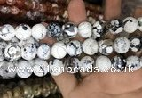 CAA3231 15 inches 16mm faceted round fire crackle agate beads wholesale