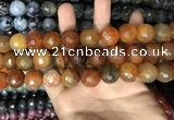 CAA3238 15 inches 16mm faceted round fire crackle agate beads wholesale