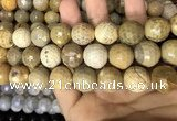 CAA3243 15 inches 16mm faceted round fire crackle agate beads wholesale
