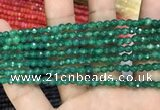 CAA3268 15 inches 4mm faceted round agate beads wholesale