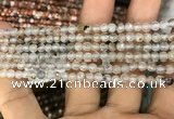 CAA3273 15 inches 4mm faceted round agate beads wholesale