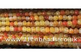 CAA3292 15 inches 6mm faceted round agate beads wholesale