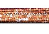 CAA3293 15 inches 6mm faceted round agate beads wholesale