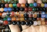 CAA3348 15 inches 8mm faceted round agate beads wholesale