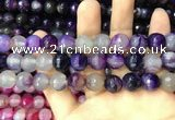 CAA3398 15 inches 12mm faceted round agate beads wholesale