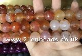 CAA3422 15 inches 14mm faceted round agate beads wholesale