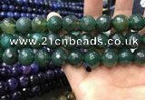 CAA3431 15 inches 14mm faceted round agate beads wholesale