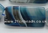 CAA344 15.5 inches 25*50mm rectangle blue line agate beads
