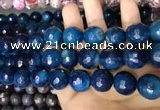 CAA3451 15 inches 16mm faceted round agate beads wholesale