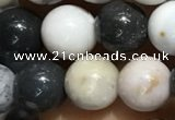 CAA3576 15.5 inches 6mm round parral dendrite agate beads