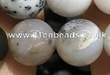 CAA3579 15.5 inches 12mm round parral dendrite agate beads
