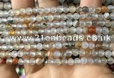 CAA3596 15.5 inches 4mm round dendritic agate beads wholesale