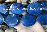 CAA3735 40*50mm - 42*55mm faceted freeform chrysanthemum agate beads