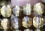 CAA3840 15 inches 6mm round tibetan agate beads wholesale