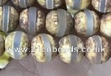 CAA3841 15 inches 6mm round tibetan agate beads wholesale