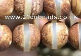 CAA3857 15 inches 8mm round tibetan agate beads wholesale