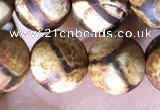 CAA3858 15 inches 8mm round tibetan agate beads wholesale
