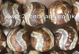 CAA3867 15 inches 8mm round tibetan agate beads wholesale