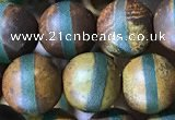 CAA3877 15 inches 8mm round tibetan agate beads wholesale