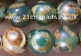 CAA3883 15 inches 8mm round tibetan agate beads wholesale