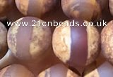 CAA3893 15 inches 10mm round tibetan agate beads wholesale