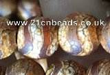 CAA3896 15 inches 10mm round tibetan agate beads wholesale