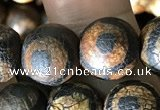 CAA3910 15 inches 10mm round tibetan agate beads wholesale