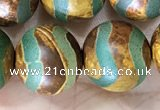 CAA3923 15 inches 12mm round tibetan agate beads wholesale