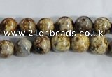 CAA393 15.5 inches 8mm round fire crackle agate beads wholesale