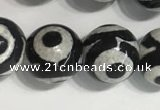 CAA3992 15 inches 10mm round tibetan agate beads wholesale
