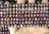 CAA4000 15.5 inches 4mm round purple crazy lace agate beads