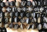 CAA4022 15.5 inches 14mm round line agate beads wholesale