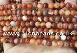 CAA4026 15.5 inches 6mm round line agate beads wholesale