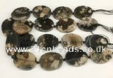 CAA4047 15.5 inches 30*40mm oval sakura agate beads wholesale