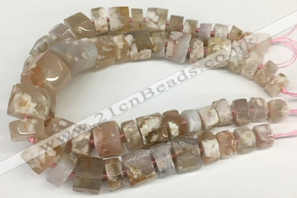 CAA4050 15.5 inches 10*15mm - 18*25mm nuggets sakura agate beads